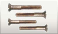 Slotted Flat Head Silicon Bronze Machine Bolts 3/8-16